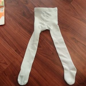 Little girls tights Size 4t White in color